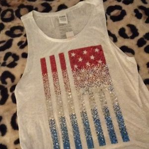 Pink brand 4th of July tank